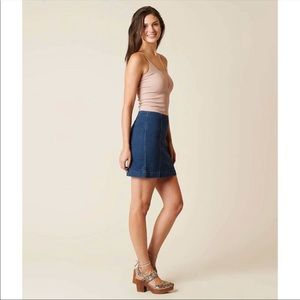 Free People Modern Fit Mini Jean Skirt Size 6